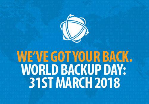 Prepare for World Backup Day. Saturday 31st March 2018.